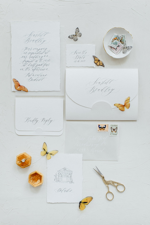 wedding stationery, wedding calligraphy,
