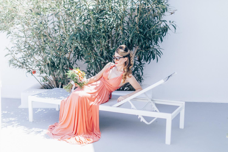 coral, bridesmaid, bridesmaid dress