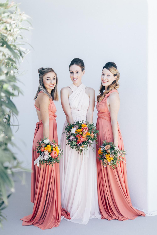 bridesmaids, bride