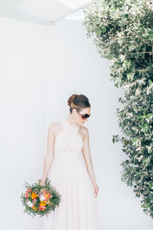 bride, summer wedding dress, white wedding