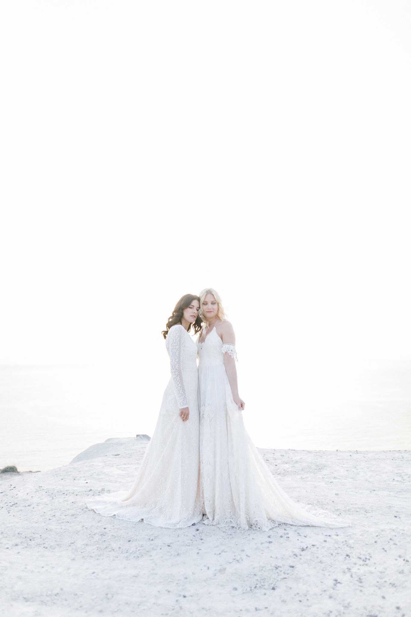 Romantic Gay Wedding Shooting In Santorini Magnolias On Silk