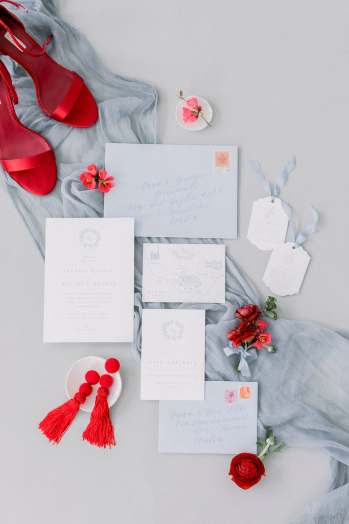 wedding color palettes, summer wedding, red wedding color