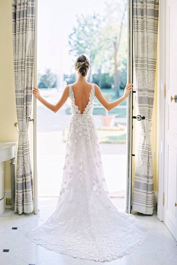 wedding dress, long white wedding dress