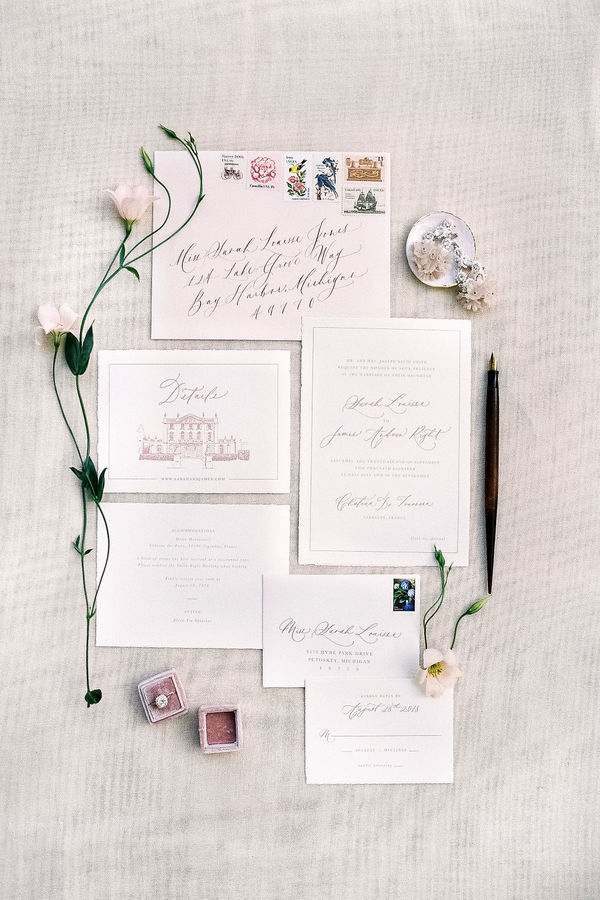 wedding stationery, wedding calligraphy, wedding details
