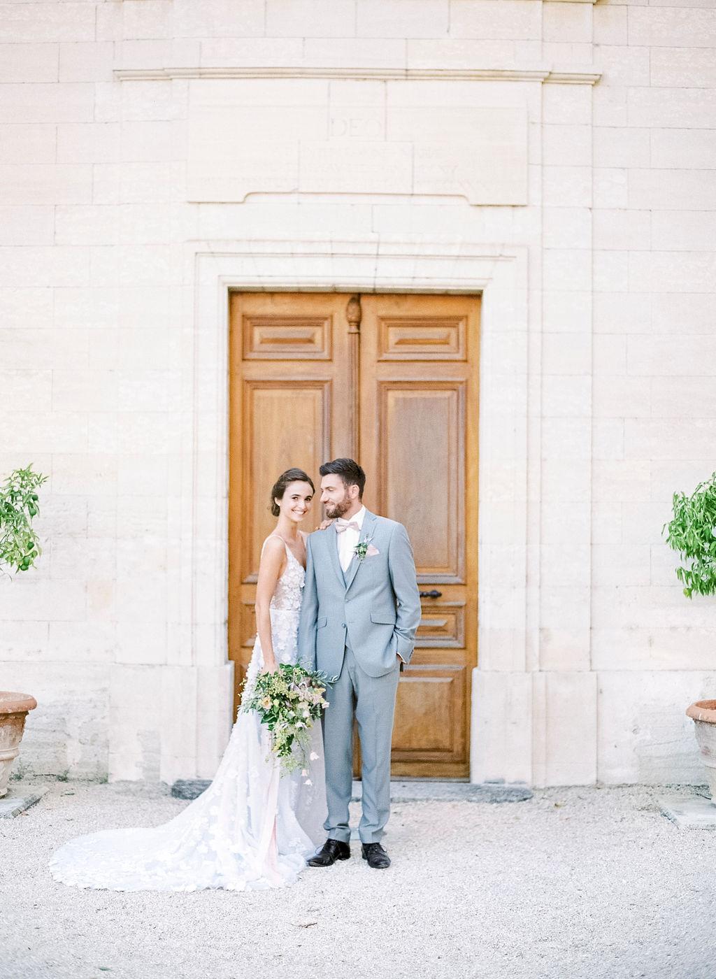 bride and groom, wedding couple, wedding in provence, chateau de tourreau, chateau wedding, destination wedding france