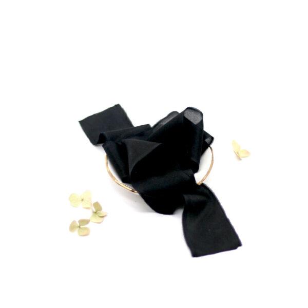 Silk-and-Linen-seidenband-schwarz-silk-ribbon-black