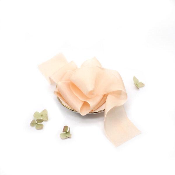 Silk-and-Linen-seidenband-pfirsich-silk-ribbon-peach